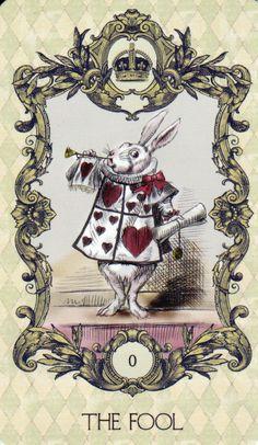 Alice in Wonderland Tarot 22 Major Arcana Cards Deck - THE FOOL