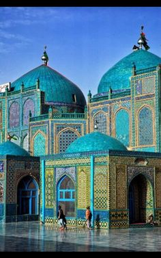 Mazar shareef - Afghanistan art worship place mosque   - Explore the World, one Country at a Time. http://TravelNerdNici.com