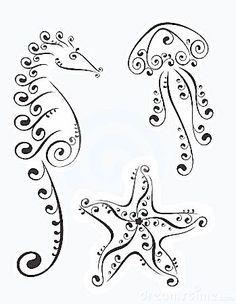 jellyfish tattoo | Sillouettes - Mermaids, Sea Life on Pinterest | Stencils…