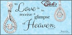 Never miss an opportunity to show your LOVE #Diamonds #DiamondPendant #LOVE http://cindisonehourjewelers.com