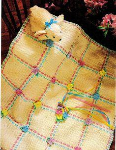 """Stitched"" crochet baby blanket"