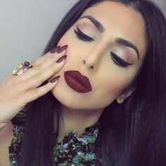 "Huda Beauty in Kat Von D's ""Vampira"""