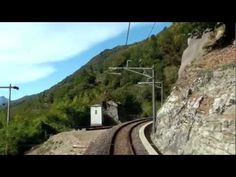 Scenic train drivers' views from Locarno to Domodossola. Northern Italy.  Part 2: http://www.youtube.com/watch?v=Re6L4uzT43o    Part 3: http://www.youtube.com/watch?v=k6hfTV75qAU