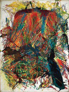 """igormag: """"Shōzō Shimamoto (1928-2013), Patlama 64-1, tuval üzerine 1964'te yağı, tuval üzerine yağlıboya, 239 x179 cm"""""""