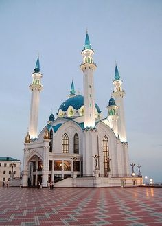 Masjid in Kazakhstan Mosque Architecture, Religious Architecture, Beautiful Architecture, Beautiful Buildings, Art And Architecture, Architecture Details, Islamic World, Islamic Art, Beautiful Mosques