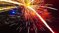 Man Flies Drone Through Fireworks, The Results Are Spectacular - http://gearjunkie.com/drone-through-fireworks