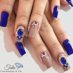 Stunning Examples of Cobalt Blue Nails For Elegant Ladies ★ See more: https://naildesignsjournal.com/cobalt-blue-nails/ #nails