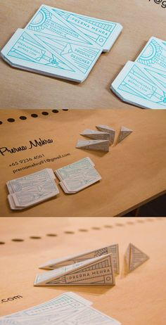 Product Designer Identity business card - great 3D card to break the mold