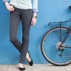 women's bike commuter skinny jeans