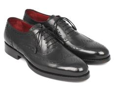 Paul Parkman Men's Wingtip Oxford Goodyear Welted Black