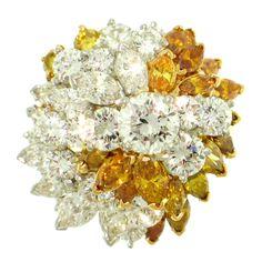 OSCAR HEYMAN & BROTHERS, Diamond and Colored Diamond Ring
