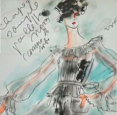 """""""Chanel"""" Karl Lagerfeld's sketches"""