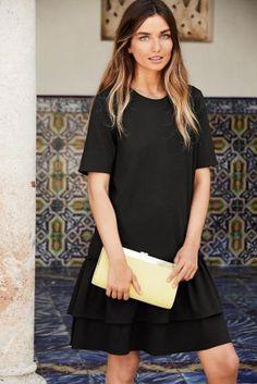 ישראל :Next - קנה שמלה עם שולי מלמלה שחורה באינטרנט היום ב
