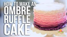 Very short mini-tutorial showing the basics of How to Make an Ombre Ruffle Cake. Gives a good idea of how thin the fondant needs to be, and how many shades are needed to get this look.