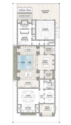 Hotel Floor Plan, Villa Plan, Resort Villa, Master Plan, New Builds, Beach Resorts, Palm Springs, Dream Homes, Arquitetura