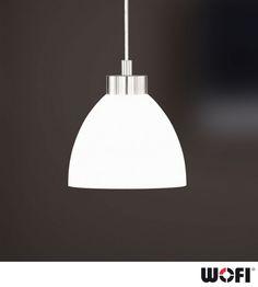 Wofi 'Clara' 1 Light Ceiling Pendant Light, Matt Nickel - 6804.01.64.0000 None