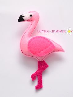 FLAMINGO - FELT MAGNET - Crafting For Holidays                                                                                                                                                                                 More