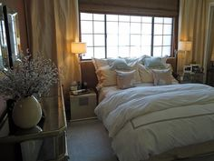 Dreamy Bedroom. See who created this space and discover your favorite HGTV Star designers. >> http://www.hgtv.com/hgtv-star-designers/package/index.html?soc=pinterest