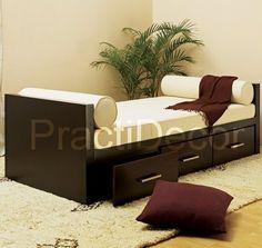 Sofa cama con cajones sofa convertible en cama de 135x190 for Divan 80x190