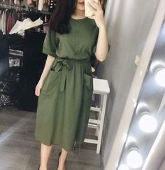 Timeson Womens Blouses Fashion Chiffon - Now Outfits Office Wear Dresses, Modest Dresses Casual, Stylish Dresses, Modest Outfits, Simple Dresses, Skirt Outfits, Modest Fashion, Hijab Fashion, Cute Dresses