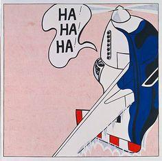 Roy Lichtenstein 1962 - LIVE AMMO (HA! HA! HA!) - Oil on canvas (173 x 173 cm)