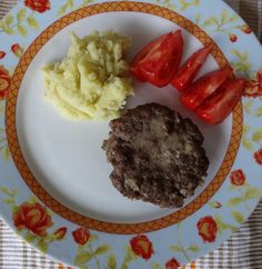 Hamburger with mashed potatoes Food Preparation, Crocodile, Autism, Mashed Potatoes, Hamburger, Steak, Frozen, Veggies, Healthy Eating