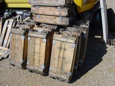 VINTAGE 1950's Military Wooden Anti Tank Rocket Ammo Ammunition WOOD BOX crate. $20.00, via Etsy.