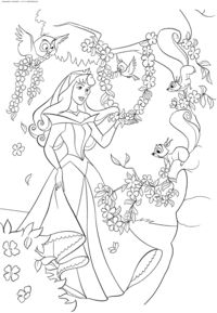 Try Our Free Sleeping Beauty Coloring Pages Your Child Can Color His Or Her Favorite Characters From Including Princess Aurora And Prince