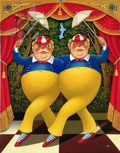 *TWEEDLE DEE & TWEEDLE DUM ~ Alice in Wonderland