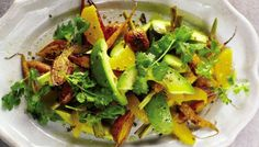 Carrot, Avocado, and Orange Salad | The Splendid Table  without oil!!