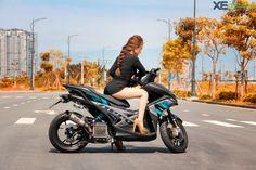 Chiếc Yamaha NVX 155 của biker Sài Gòn độ lại monoshock với treo Nitron, nhiều chi tiết đồ chơi giá trị và phá cách. Aerox 155 Yamaha, Thailand, Japan, Asian Woman, Motorcycles, Cars, Autos, Car, Automobile