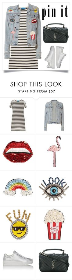 """""""Pin it !"""" by starshineb ❤ liked on Polyvore featuring M.i.h Jeans, rag & bone, Happy Embellishments, Shourouk, Prada Sport and Yves Saint Laurent"""