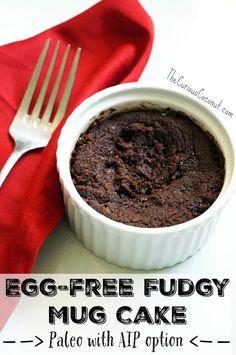 Egg-free Fudgy Mug Cake (Paleo with AIP option) // TheCuriousCoconut.com #BeFair