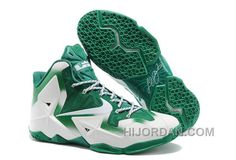 """hot sale online 6159d c1212 Nike LeBron 11 """"Michigan State"""" PE White Green For Sale Discount GjXnHB"""