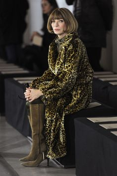 Anna Wintour attends the Bottega Veneta Autumn/Winter 2012/2013 fashion show as part of Milan Womenswear Fashion Week on February 25, 2012 in Milan, Italy.  Sip With Socialites  http://sipwithsocialites.com/