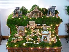 Nativity Church Christmas Decorations, Christmas Tree Design, Christmas, Christmas N… Christmas Crib Designs, Christmas Crib Ideas, Church Christmas Decorations, Christmas Tree Design, Christmas Room, Christmas Holidays, Christmas Crafts, Christmas Ornaments, Christmas Activities