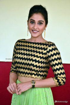 Regina Cassandra At Nakshatram Teaser Launch 14 South Indian Actress Hot, Most Beautiful Indian Actress, Blouse Patterns, Blouse Designs, Regina Cassandra, Senior Girl Poses, Lehenga Blouse, Girl Fashion, Womens Fashion