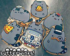 ButterWinks - Pusheen the cat cookies