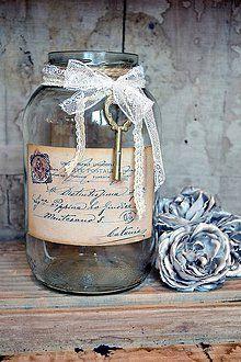 Nádoby - Shabby vintage nádoba - 4977527_