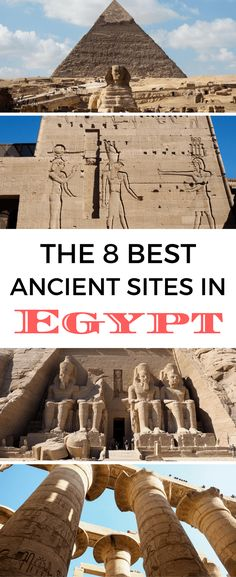 The best ancient sites to see in Egypt is still filled with ruins, tombs, and temples that show off the country's long history. if you're planning your own trip to Egypt, here are 8 of the best ancient sites you'll want to see. Cool Places To Visit, Places To Travel, Travel Destinations, Places To Go, Egypt Travel, Africa Travel, Travel Europe, Egypt Culture, Dubai