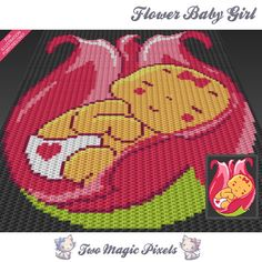 Flower Baby Girl c2c graph crochet pattern; instant PDF download; baby blanket…