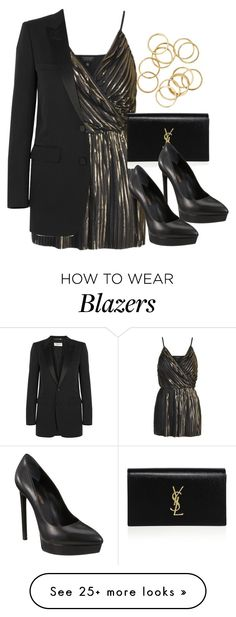 """""""Style #10550"""" by vany-alvarado on Polyvore featuring Topshop and Yves Saint Laurent"""