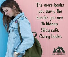 Stay safe. Carry books. #mybookcave #books #booklovers #bookworms