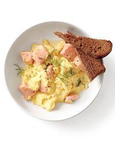 Salmon and Scrambled Eggs - Martha Stewart Recipes