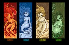 elementals by Izabella.deviantart.com on @DeviantArt