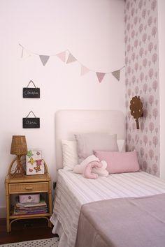 Preciosa habitación infantil compartida para Claudia y Olivia