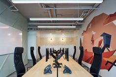 Studio Perspektiv were engaged by WebSupport to design their offices located in Bratislava, Slovakia. One of the biggest players in the Slovakian IT Bratislava, Office Interior Design, Office Interiors, Open Ceiling, School Murals, Wood Cladding, Rural House, Open Office, Workplace Design