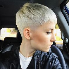 """5,106 Likes, 42 Comments - Short Hairstyles Pixie Cut (@nothingbutpixies) on Instagram: """"@foxblossom with a tight fade"""""""