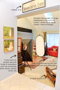 Studio Set Up works in small spaces too... by Paint the Moon Photography