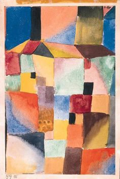 Rot-Green Orange-Blau 1919 (26,7 x 17,8 cm) Paul Klee